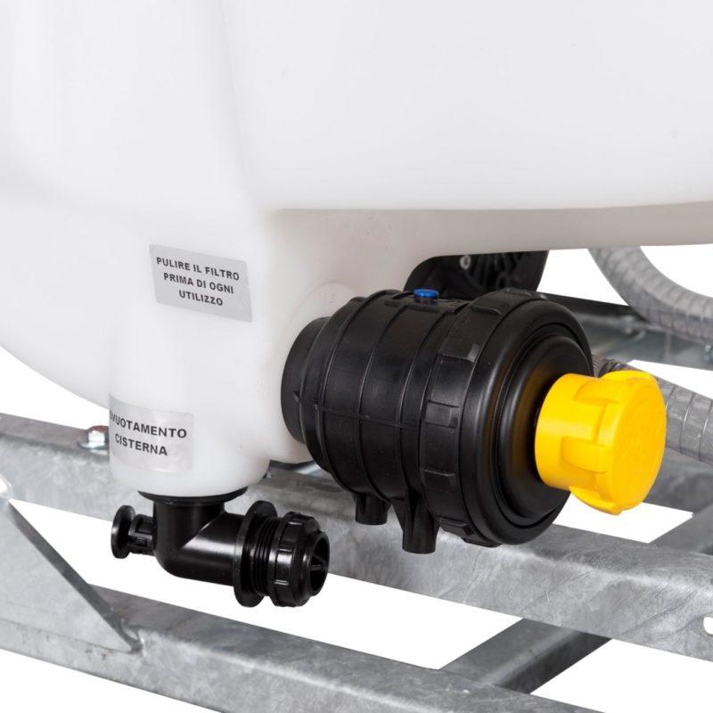 filtro con valvola e valvola di scarico antinquinante