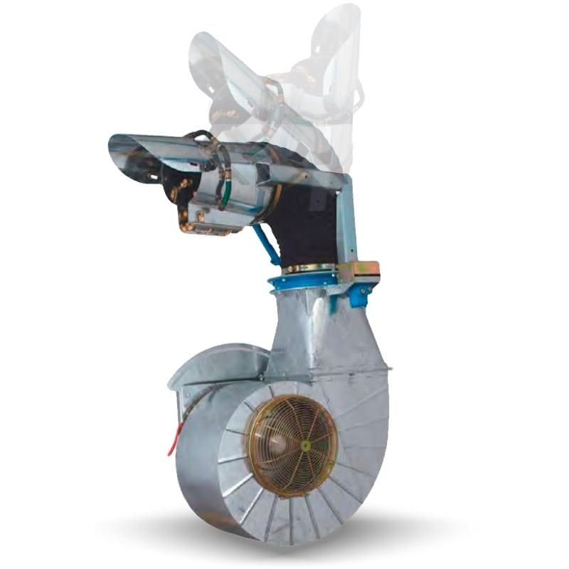 atomizzatore a cannone orientabile