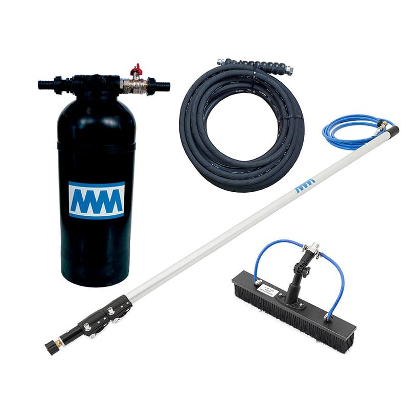 KIT8-1 kit con lancia 4 m - spazzola 40 cm - tubo alta pressione 10 m e resina 8L