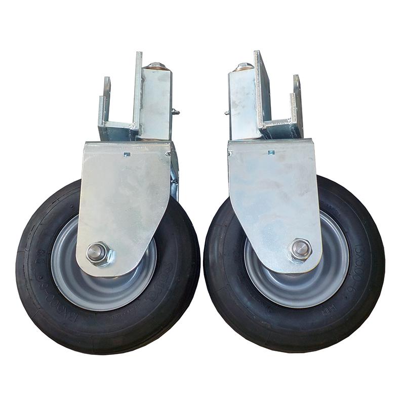 kit ruote di appoggio pivottanti