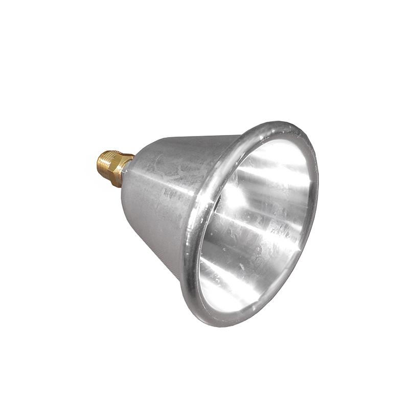 campana in alluminio con ugello