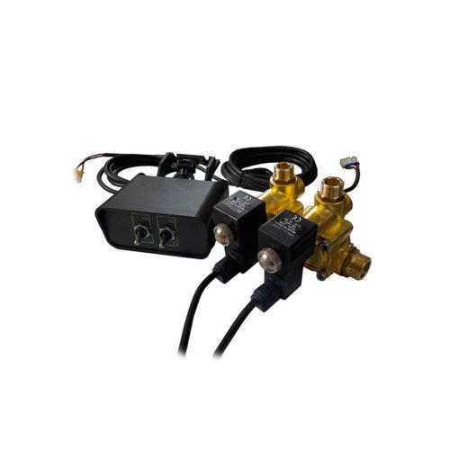 kit chiusura elettrica con 2 elettrovalvole e quadro comandi_mini