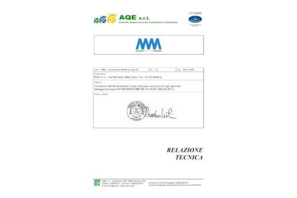 RELAZIONE TECNICA acqua ozon 25gr_mini